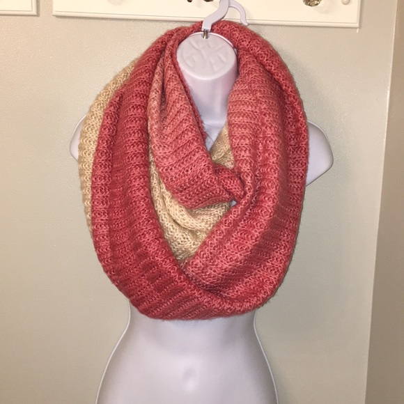bb52a202fe69 Charming Charlie Accessories | Ombr Pink And Cream Infinity Scarf ...